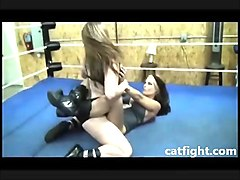 professional adult underground wrestling in catfight