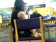 Candid Desi college girl Feet in Library