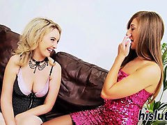 hot girl-on-girl action with two delicious cuties