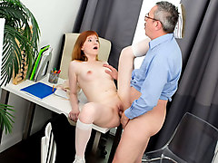 Sweet Red in Hot Sweet Red gets tricked and fucked by her teacher - TrickyOldTeacher