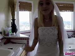 lovely teen bride gets fucked hard before wedding