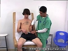 tied up gay hunk gets used by a really freaky doctor