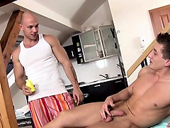 homosexual dude is delighting masseur's thick male penis