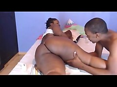Dark Skin Ebony BBW camgirl With Her BF