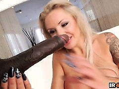 big boobs blonde milf gets destroyed by a big black cock