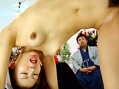 Rino Asuka in Rino Asuka gets sucked and stimulated during a message - AviDolz