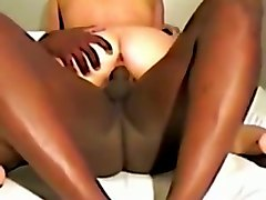 buff stud fucks my pussy in a missionary position in amateur interracial video