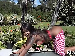 ebony honey adores enduring sex very much
