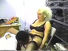 blonde milf that is blonde fuck work to be kept by bbc chef