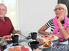 delicious darling and mature mum are sharing a tough shaft