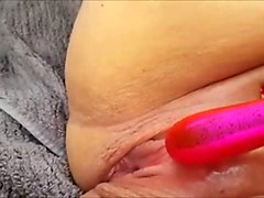 using her vibrator to squirt in the car