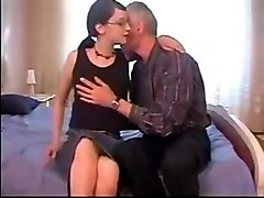 Dad Gives His Plain Daughter Her First Taste Of Cock !