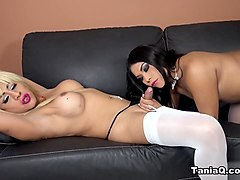 Tania Q in Behind the Scenes Lesbian Fun - TaniaQ