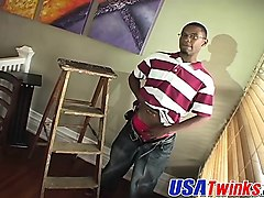 hot nerdy twink with big black cock jerking hit hard for fun