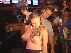 Filthy Whores Go Fully Nude In Club Comp