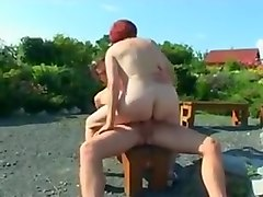 Old woman fucked by young fucker