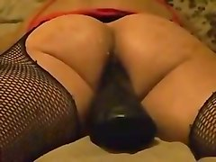 Wife dildos and fist fucks hubbys ass