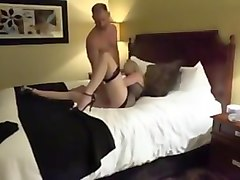 Hotwife fucks lover while husband listens on the phone