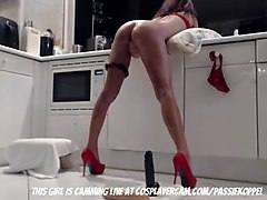 italian milf getting rammed in the kitchen