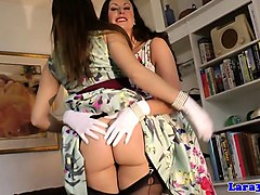 lesbian classy lingerie milf pussylicking