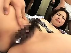 asian schoolgirl is caught in a classroom and teachers have