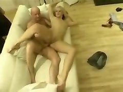 Dirty british chav slag teases and fucks