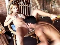 Skinny Blond Latina Hottie Squeals While Anally Pounded