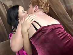 Hairy bbw granny and two lesbian women