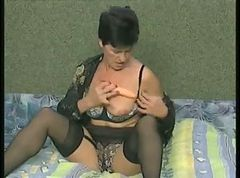 Hot Granny in Black Stockings Fucking Younger by TROC