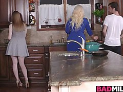her boyfriend and her stepmum alura jenson get it on in a hot threeway