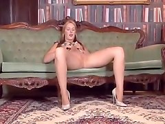 Blonde mom in pantyhose