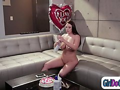 angela white n eva lovia lick while covered in birthday cake