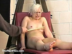 cute blonde slave chaos tit tormented to tears and whipped