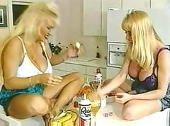 Two busty blondes are spending the day together and eating pussy