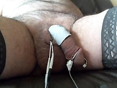 Anal plug ruby and  urethral electro stimulation