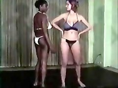 70 s interracial Catfight (No Audio)