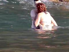 Amateur couple playing at beach - Madeira Island - Seixal