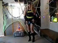 Laurie Smith batgirl dildo play alone