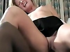 Sexy blonde babe with b lack guy enjoying his fat black cock in her wet tight pussy