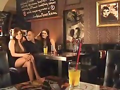 Bar Booth Brunettes - Anal Threesome