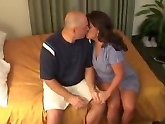 Wife's black breeding in front of husband