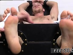 gay slave boy tied up and tickled by cruel master