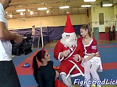 lesbian babe rimming babe in costume