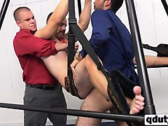 gay dude tied up and fucked at a job interview
