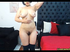 hairy latina has an amazing natural body