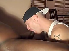 Bbc sucker takes the load in his mouth and swallows