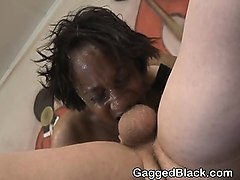 black ghetto slut getting trashed roughly on the floor