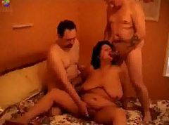 Chubby Momma Is Adventurous Enough To Handle Two Cocks At Once