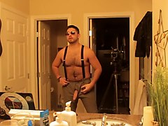 Don Stone In Slacks Suspenders & Shades Alpha Hairy Latino 2