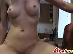 nasty blonde whore rides fat cock like a pro